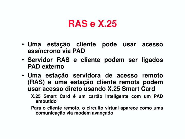 RAS e X.25