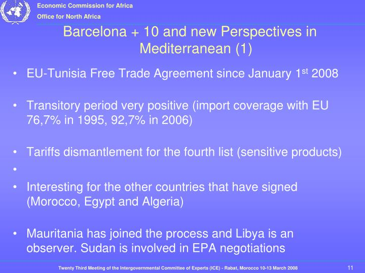 EU-Tunisia Free Trade Agreement since January 1