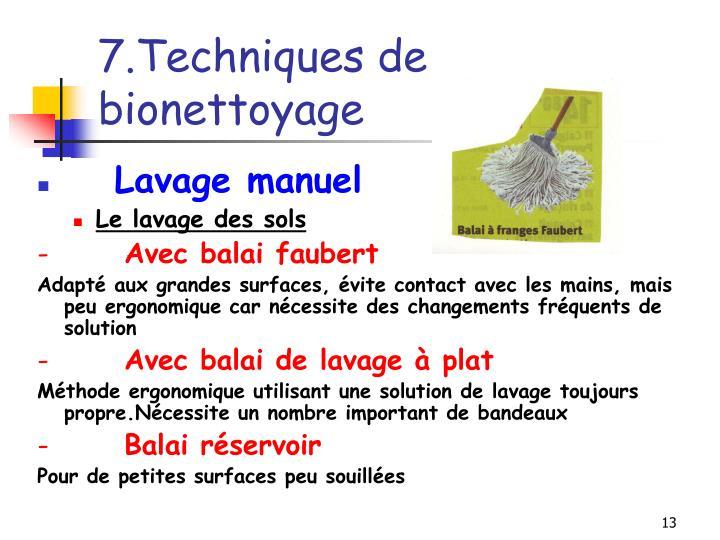 7.Techniques de bionettoyage