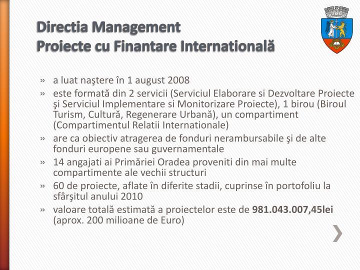 Directia Management