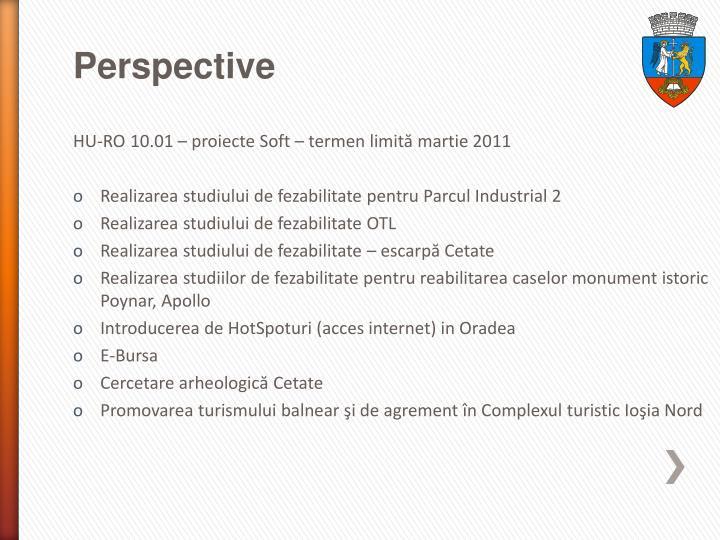 HU-RO 10.01 – proiecte Soft – termen limită martie 2011