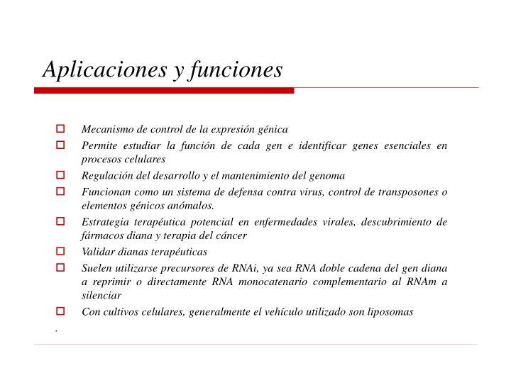 Aplicaciones y funciones
