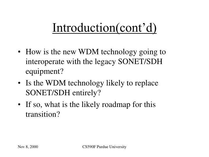 Introduction(cont'd)
