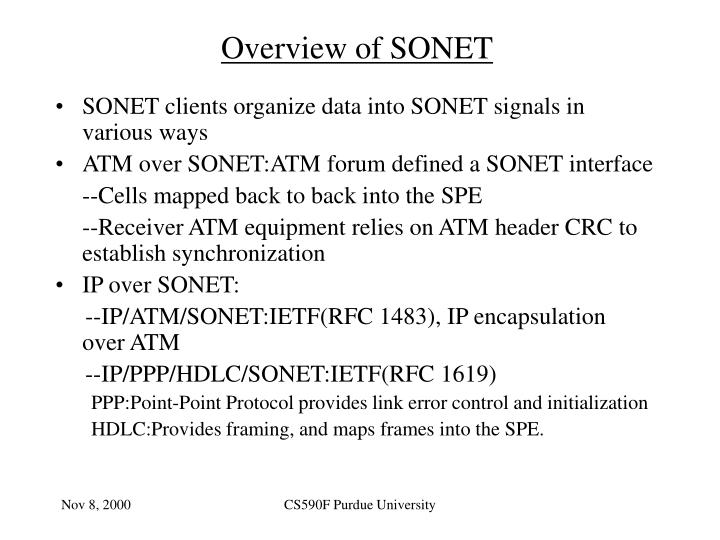 Overview of SONET