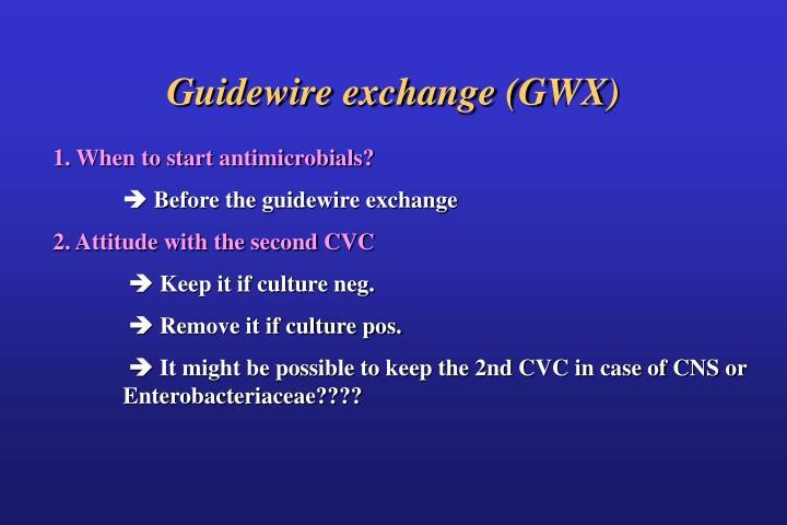 Guidewire exchange (GWX)