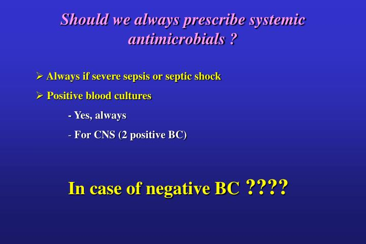 Should we always prescribe systemic antimicrobials ?