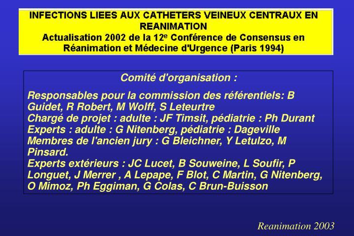 Comité d'organisation :