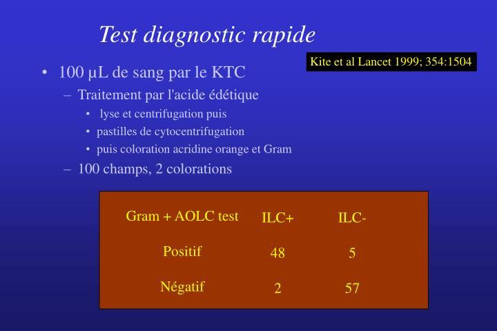 Test diagnostic rapide