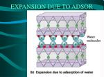 expansion due to adsor