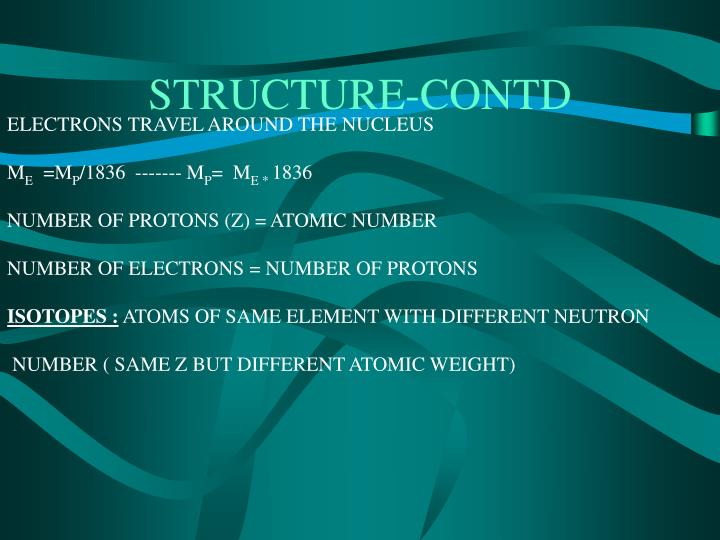 Structure contd