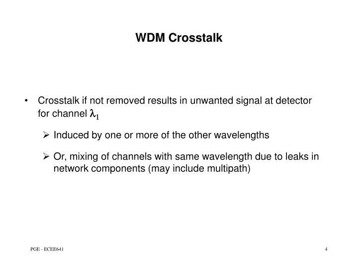 WDM Crosstalk