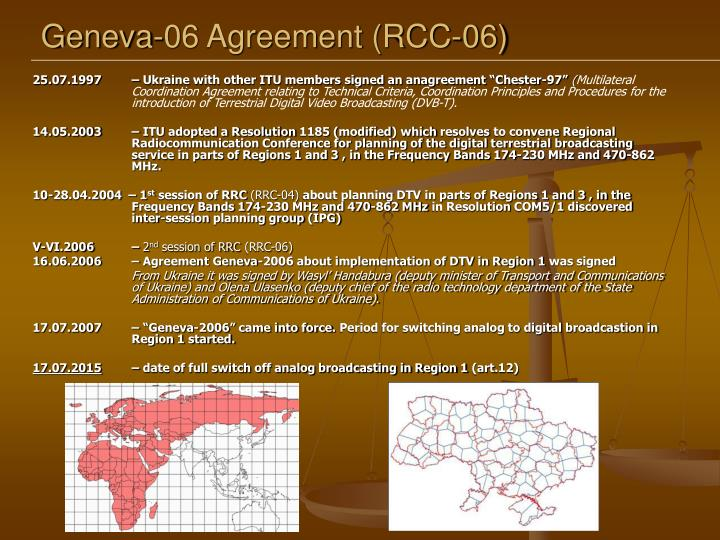 Geneva 06 agreement rcc 06