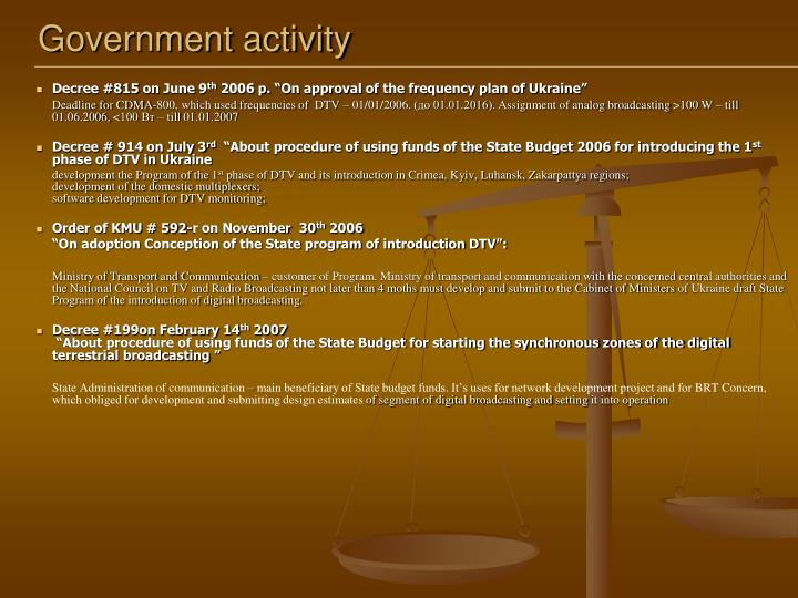 Government activity