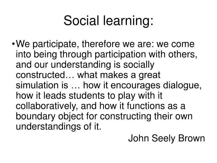 Social learning: