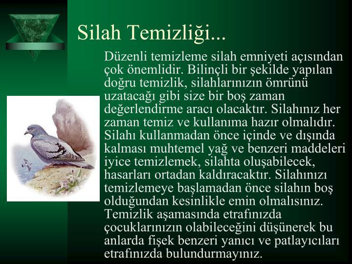 Silah Temizlii...