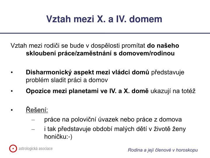 Vztah mezi X. a IV. domem