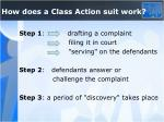 how does a class action suit work