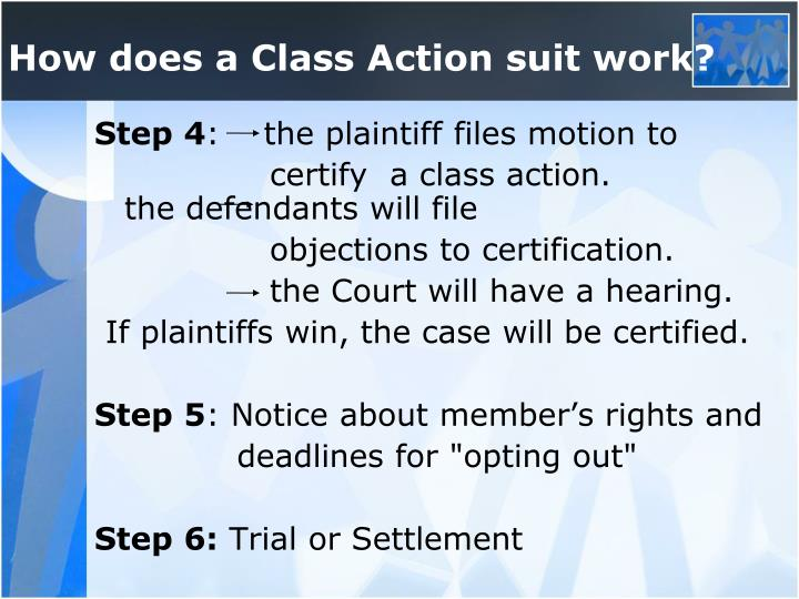 How does a Class Action suit work?