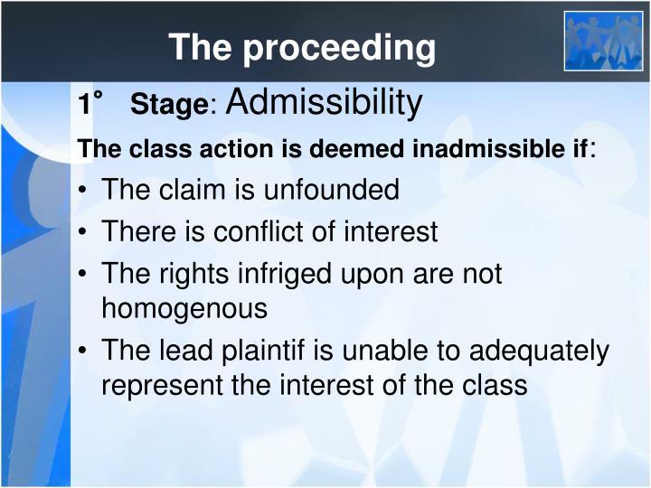 The proceeding