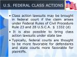 u s federal class actions