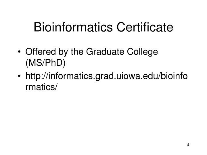 Bioinformatics Certificate