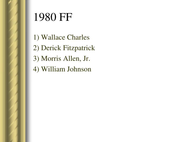 1) Wallace Charles