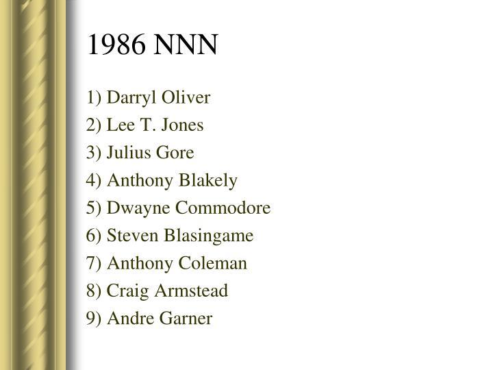 1) Darryl Oliver