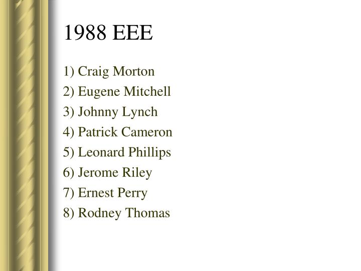 1) Craig Morton
