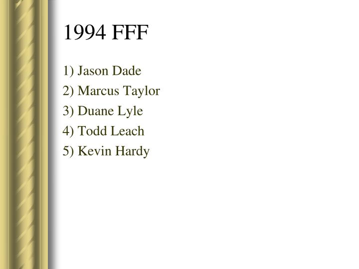 1) Jason Dade