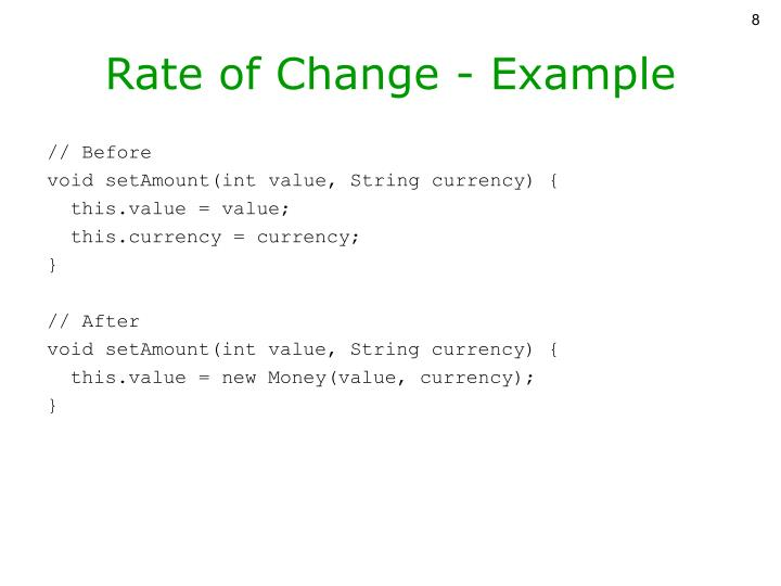 Rate of Change - Example
