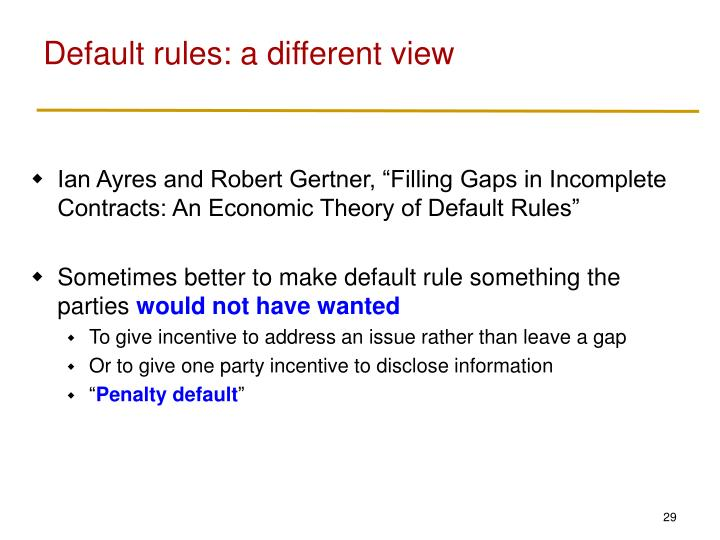 Default rules: a different view