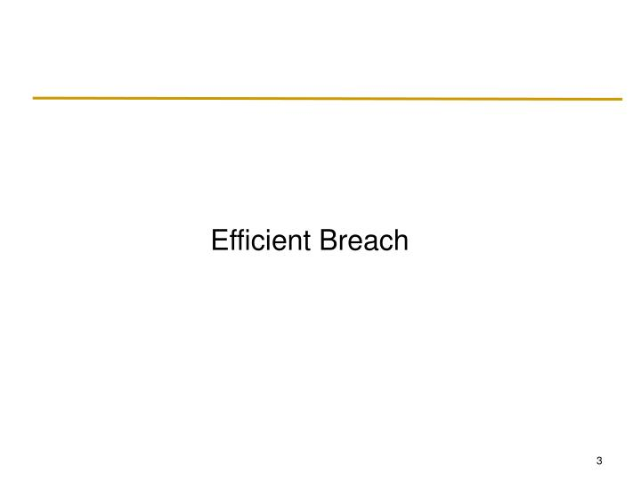 Efficient Breach