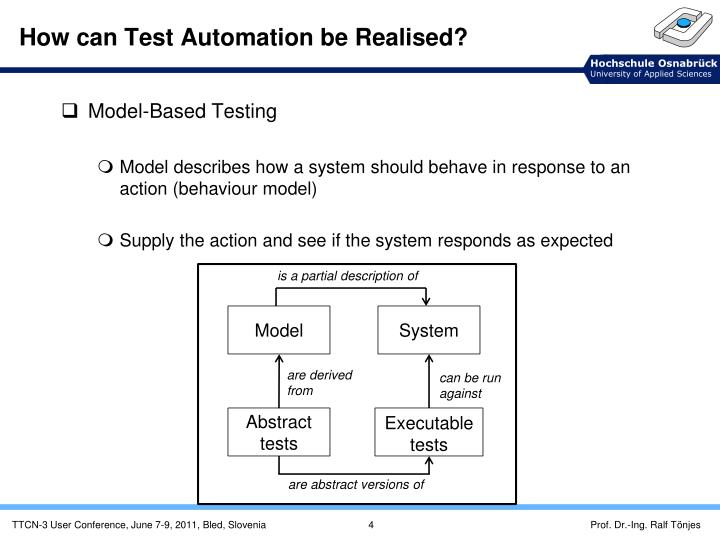 How can Test Automation be Realised?