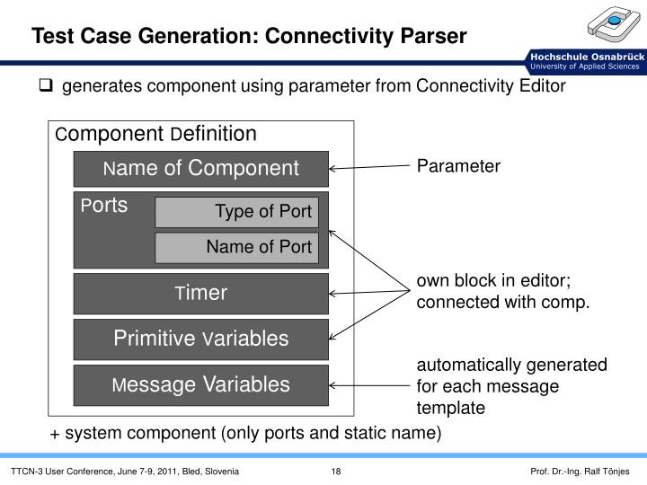 Test Case Generation: Connectivity Parser