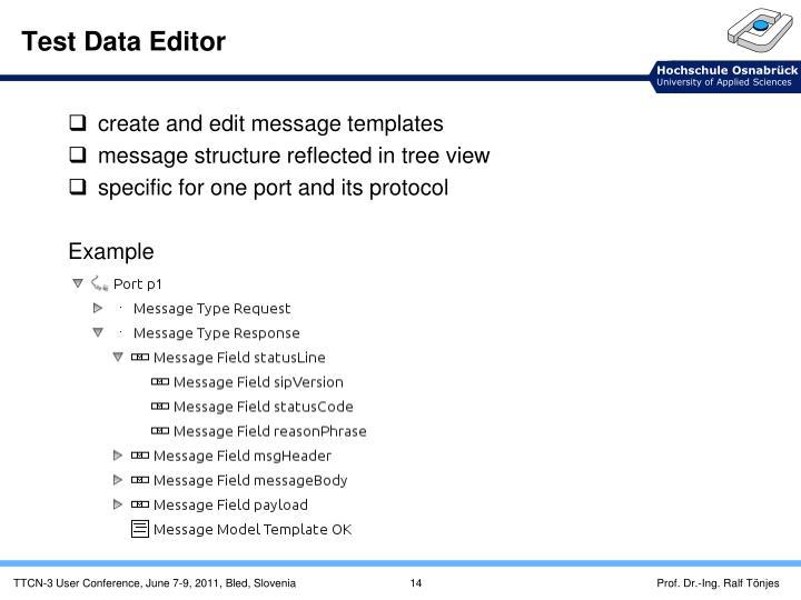 Test Data Editor