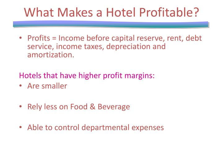 What Makes a Hotel Profitable?