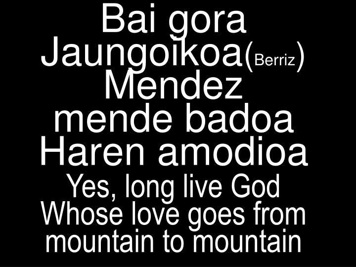 Bai gora