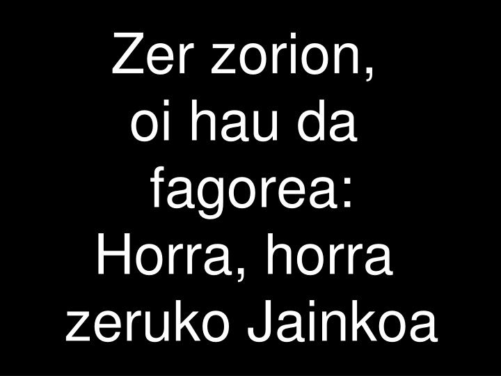 Zer zorion,
