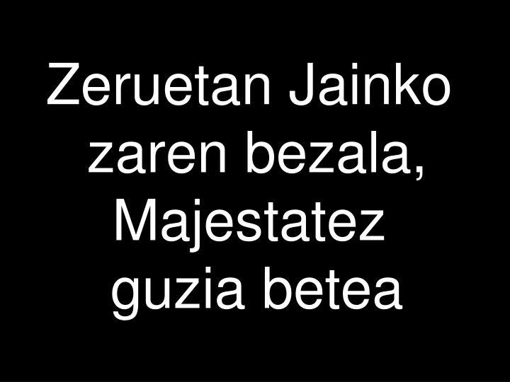Zeruetan Jainko