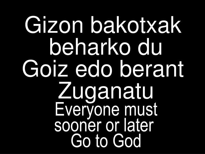 Gizon bakotxak