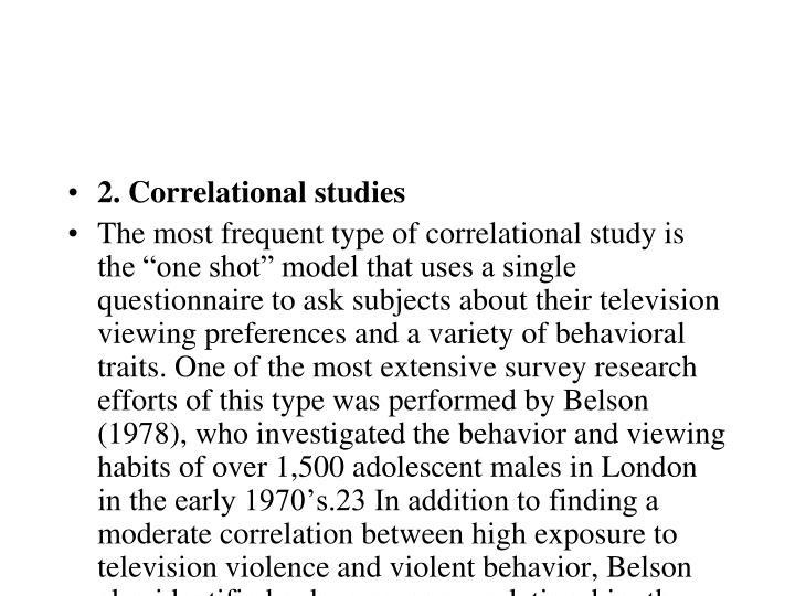2. Correlational studies