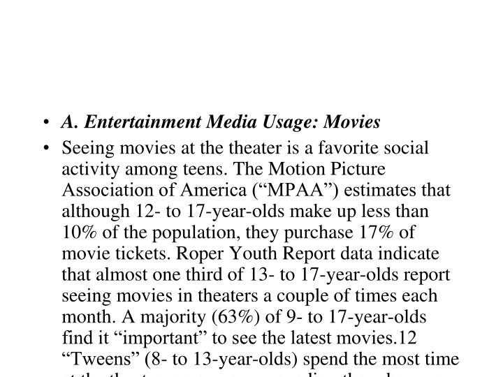 A. Entertainment Media Usage: Movies