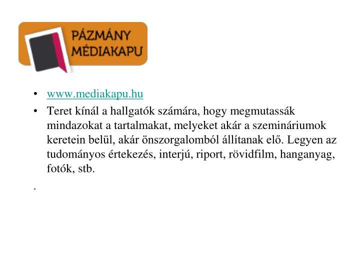 www.mediakapu.hu