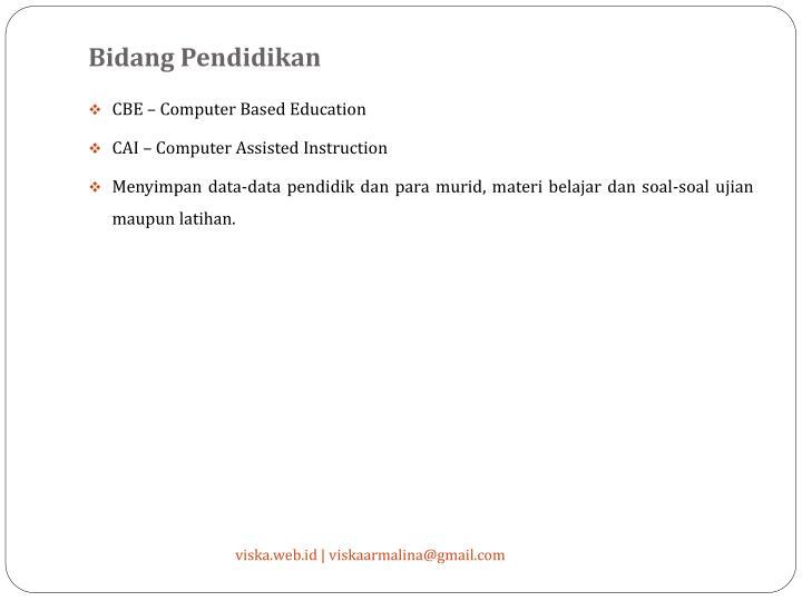 Bidang Pendidikan