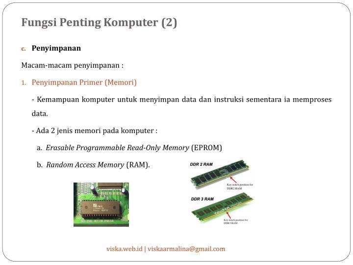 Fungsi Penting Komputer (2)