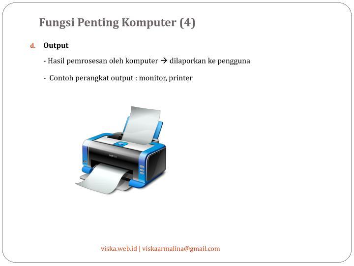 Fungsi Penting Komputer (