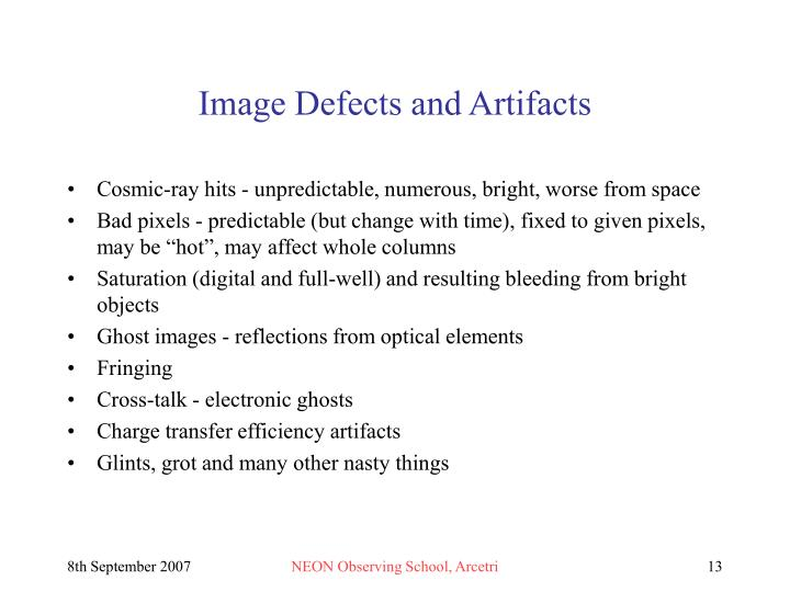 Image Defects and Artifacts