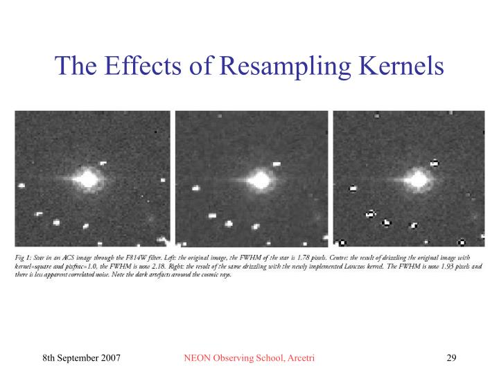 The Effects of Resampling Kernels