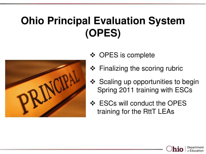Ohio Principal Evaluation System (OPES)