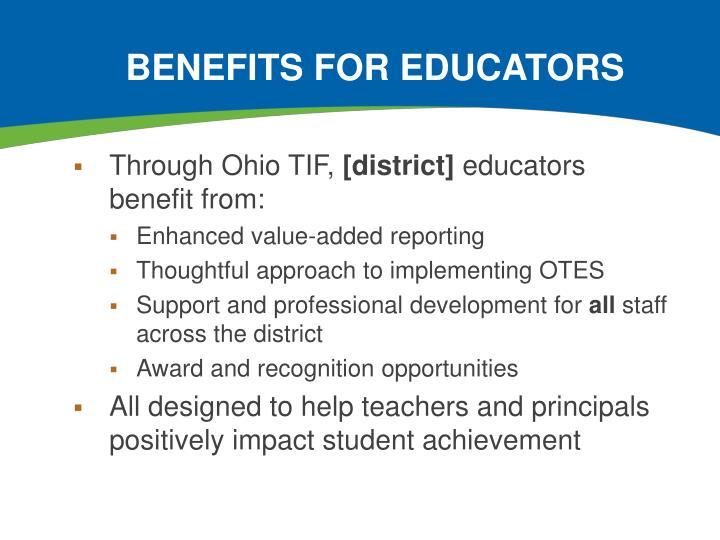 Benefits for Educators